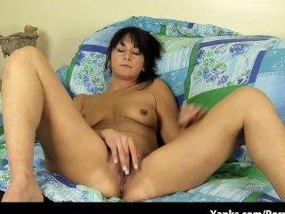 Girlfriend With Huge Nipples Finger Fucks Herself