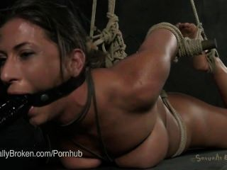 Blonde Busty Pornstar Cherry Torn Is Bound, Fucked, And Made To Cum