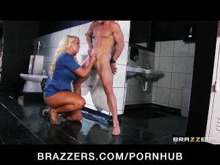 Slutty Big-tit Blonde Alura Jenson Gets Hard Dick In A Public Bathroom
