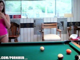 Group Of College Girls Turn A Game Of Pool Into A Hardcore Orgy
