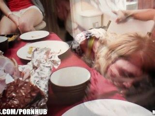 Group Of Slutty College Teens Start An Orgy At A House Party