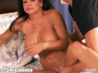 Horny Brunette Mom Teri Weigal Has Her Juicy Pussy Pounded