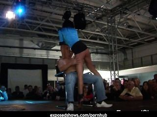 Horny Babe Showing Off Her Skills At The Sex Show
