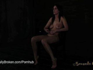 Annika Albrite Fucked In Bondage With Nipple Clamps