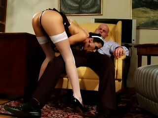 Extremely Hot Maid Fucks Boss