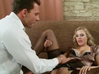 Blonde Teen Rides The Cock