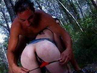 Skinny French Girl Gets Spermed By Wild Man