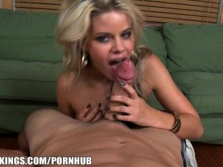 Flexible Blonde Has Her Tight Pink Pusy Stretched By A Huge Cock