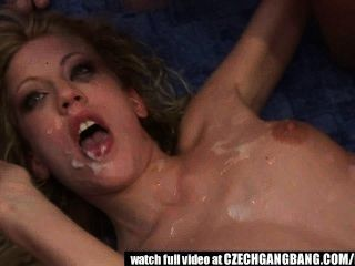 Tight Blond Chick Gets Extreme Hardcore Gangbang