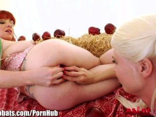 Analacrobats Jayda Diamonde Lesbian Anal Apple Insertion