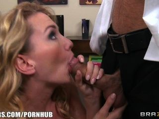 Busty Blonde Boss Begs Her Employee To Fuck Her Hard In The Ass