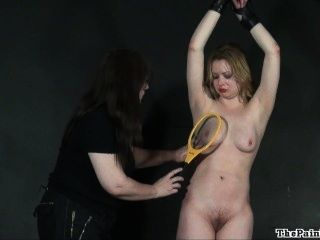 Lesbian Humiliation And Bizarre Lezdom Bondage Of Blonde Amber In Femdom Bd