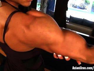 Aziani Iron Marina Lopez Nude Bodybuilder