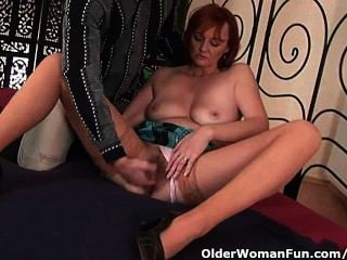 Slutty Grandma Gets Fisted Before She Gets A Facial