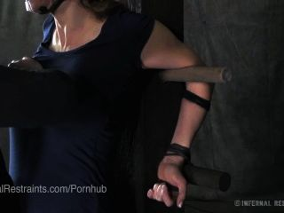 Busty Rain Degrey Bound And Clothes Cut Off