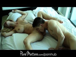 Puremature Wife In Lingerie Gets Fucked And A Creampie
