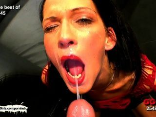 Brunette Chicks Who Really Like The Taste Of Warm Jizz