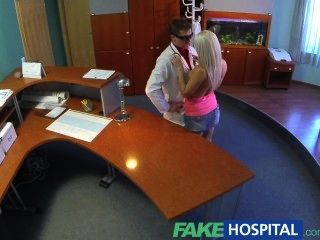 Fakehospital Perfect Sexy Blonde Gets Probed And Squirts Doctors Reception