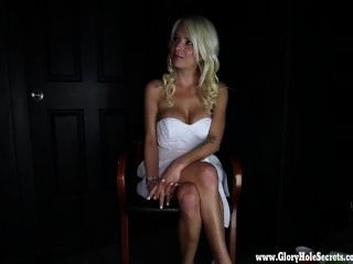 Gloryhole Secrets Hot Blonde Loves Every Drop Of Cum 1