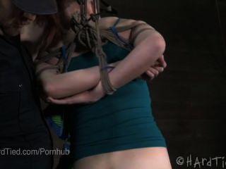 Newbie Redhead Ashley Lane Whipped In Bondage
