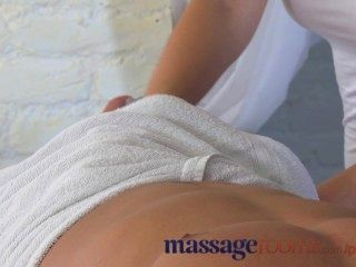 Massage Rooms Big Boobs Stunning Teen Strips And Gives Epic Oily Hand Job