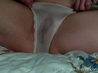 Sopping Wet Panties And Pussy With Contracting And Pulsating Orgasms