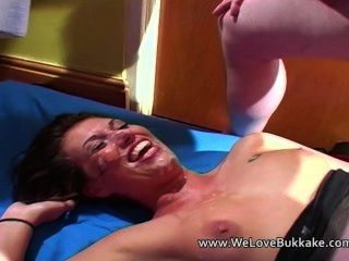 Yanca Takes A Facefull Of Cum