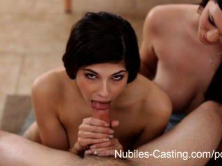 Nubiles Casting - Frisky Teen Swallows Cum To Land The Job