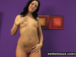 Nataly Bloo Works Her Mouth On A Dick
