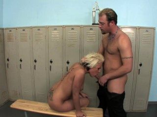 Sexy Blonde Fucked In Locker Room