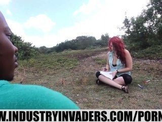 Industry Invaders- Amber Sativa Huge Tits Public Interracial