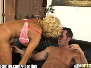 Busty Milf Takes It In Ass As Daughter Catches Her