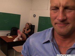 Slutty Cheerleader Fucks Her Teacher