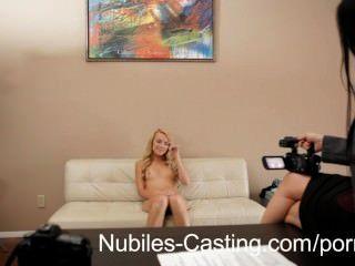 Tiny Tit Teen First Hardcore Casting Shoot