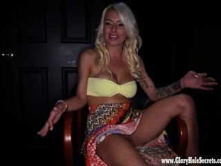 Gloryhole Secrets Blonde Makes Every Dick Cum