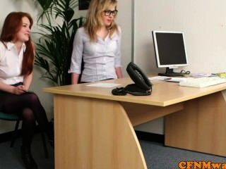 British Femdom Sophie O Brien Sucks Boss