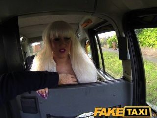 Faketaxi Blonde Gets Covered In Spunk Facial