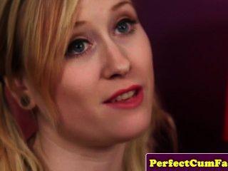 Facial For A Blonde Teen