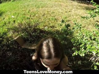 Teenslovemoney - Busty Molly Jane Fucks Outside For Cash