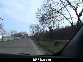 Bffs - Slutty Euro Teens Go On A Crazy Road Trip!