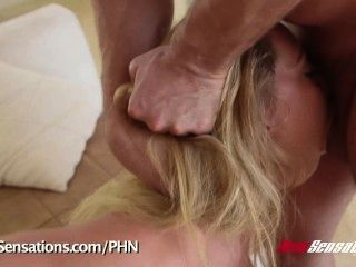 New Sensations - Carter Cruise Destroyed By 2 Cocks