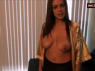 Black Pantyhose Handjob By Stepmom