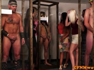 Femdom Reverse Cfnm Gang Bang With Chessie King