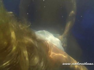 Underwater Blowjob, Sex And Cum