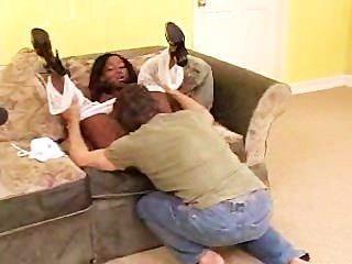 Ebony Princess Bouncing On A Dick