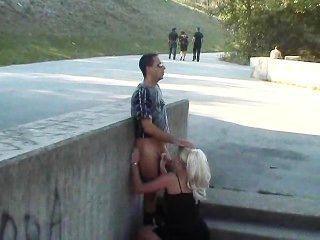 Hot European Girl Fucks In The Park