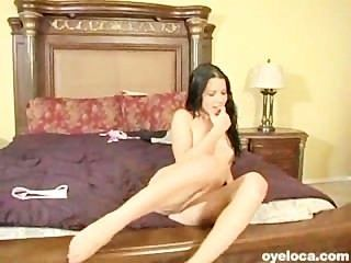 Hot Pornstar Latina Gobbling And Riding A Big Cock