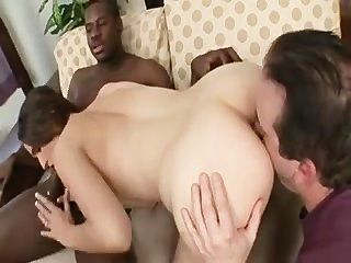 White Chick, Bbc And Husband Cuckold