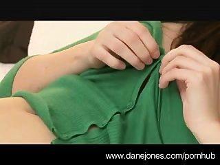 Danejones Busty Brunette Makes Herself Cum