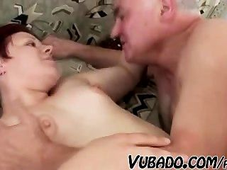 Old Man Fucks Fat Girl !!
